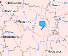 Чучково на карте Рязанской области