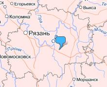 Путятино на карте Рязанской области