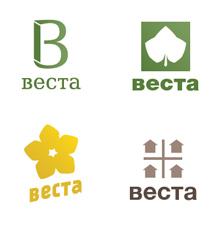Первые, рабочие варианты логотипа