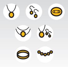 Иконки типов украшений